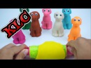 Fun for kids - Learn Colors Play Doh DOGS Paw Patrol Super Wings Robocar Poli My Litter Pony