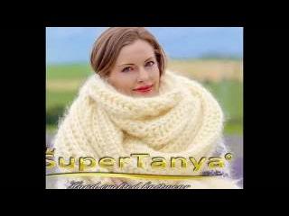 SUPERTANYA Extra long handmade mohair scarf