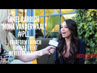 Talking to Janel Parrish PLL at the Freeform Launch Virtual Event FreeformLaunch