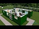 SCH15 2 x 40ft Custom Container Home with Breezeway 3D render video