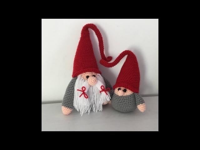 Gnome de Noël Amigurumi crochet (Bébé) / Christmas baby Gnome (english subtitle)