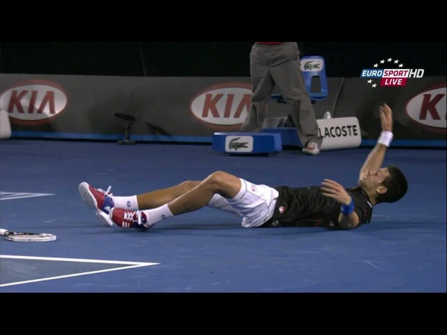 Djokovic Nadal Epic Rally from Epic Match AUS OPEN FINAL 2012
