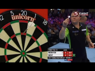 2017 World Matchplay of Darts Round 2 Webster vs West