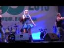 День химика-2015, концерт, певица Натали и праздничный фейерверк в Щекино