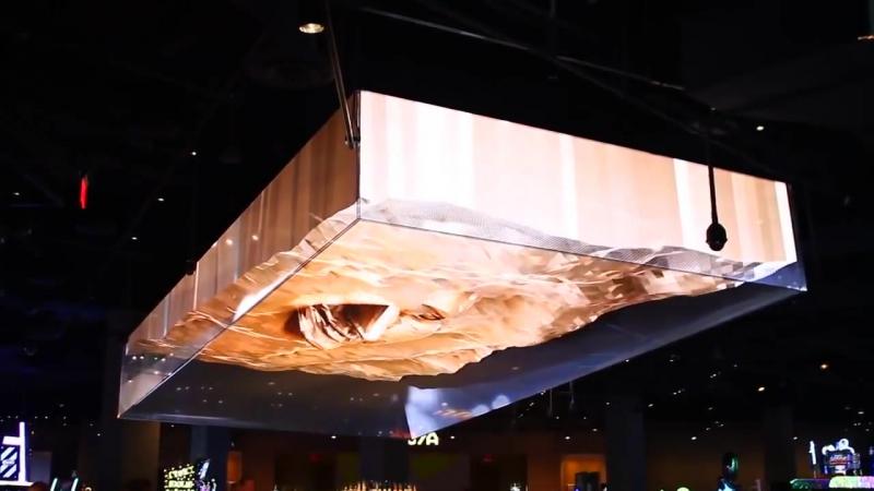 Огромная 3D-иллюзия в одном из баров Лас-Вегаса
