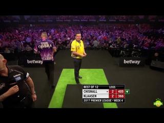 Dave Chisnall vs Jelle Klaasen (2017 Premier League Darts / Week 4)