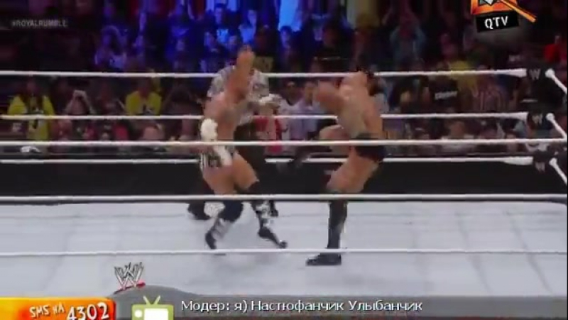 [WWE QTV][Royal Rumble 2013][Скала vs См Панк]/[The Rock vs Cm Punk]vk.com/wwe_restling_qtv