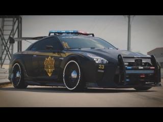 ЭКСКЛЮЗИВ- Nissan GT-R Copzilla - укротитель нарушителей