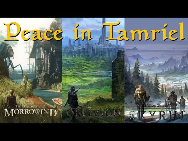 The Elder Scrolls 'Peace in Tamriel' (A Relaxing Music Compilation) (Morrowind, Oblivion Skyrim)