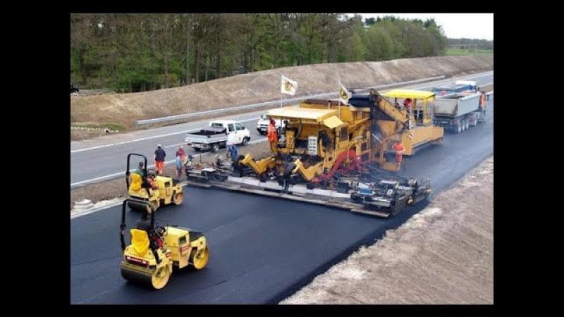 Modern Road Construction Russia USA Germany Australia Wet Weather Road Asphalting Mega Machines смотреть онлайн без регистрации