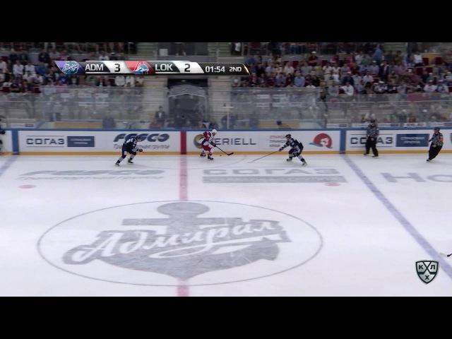 КХЛ (Континентальная хоккейная лига) - Моменты из матчей КХЛ сезона 16/17 - Гол. 3:3. Чистов Станисл
