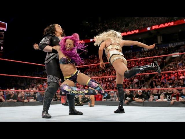 SBMKV_Video | Sasha Banks Bayley vs. Charlotte Flair Nia Jax - 11.21.2016 WWE RAW