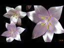 Лилия из лент/шпильки для волос/Lily of the tapes/New Petal kanzashi