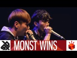 MNSTWNSS (HISS &amp TWO.H)  Grand Beatbox TAG TEAM Battle 2017  Elimination
