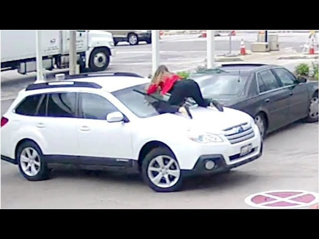 Attempted Carjacking; Woman Jumps On Top Of Her Car To Stop Thieves