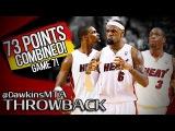 LeBron James, Dwyane Wade & Chris Bosh 73 Pts Combined in 2012 ECF Game 7 vs Celtics - All 3 CLUTCH!