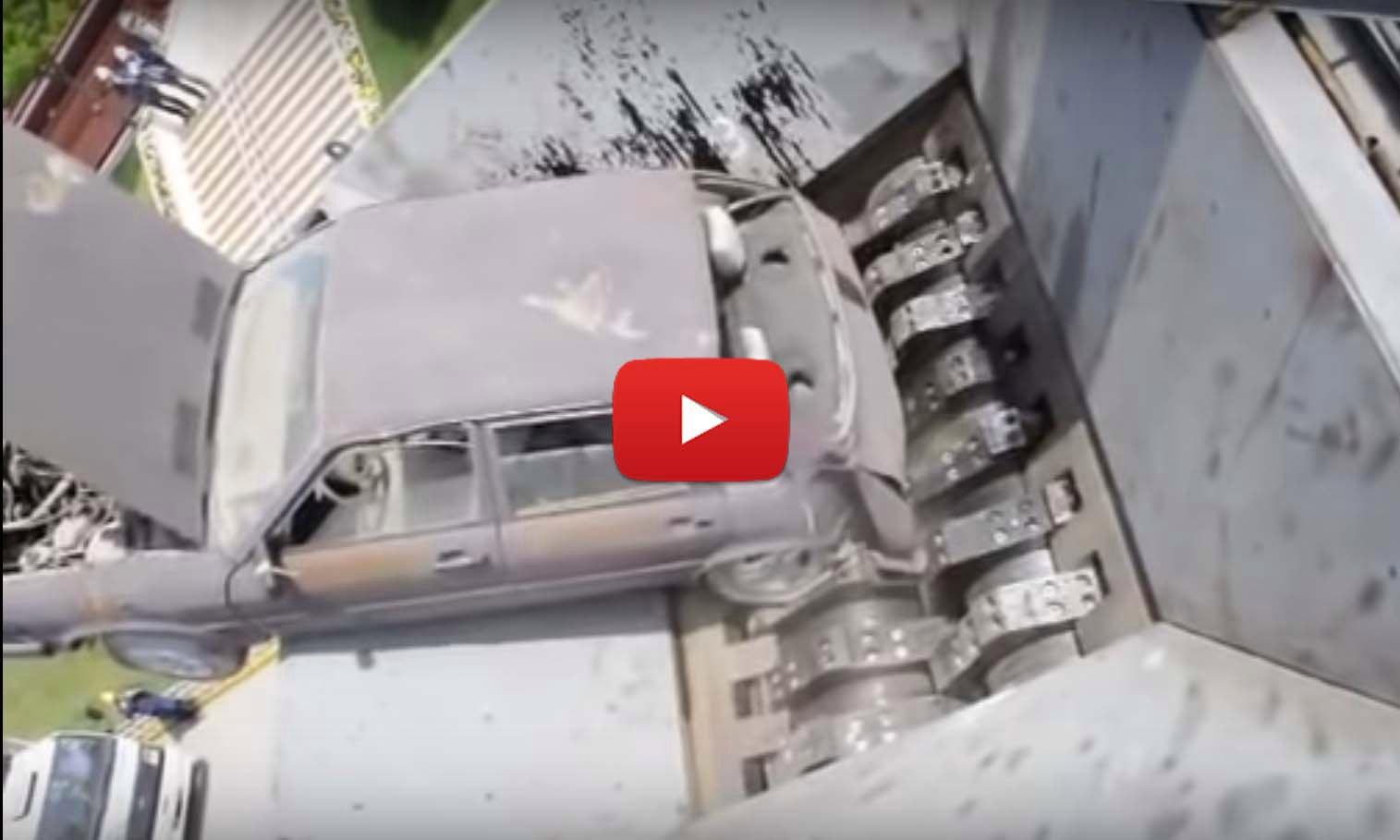 Уничтожение автомобиля за 3 минуты (видео)