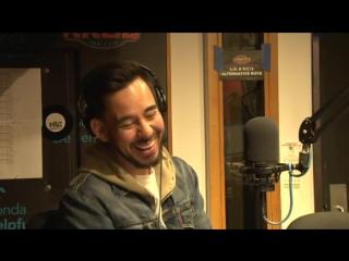 Mike Shinoda live at KROQ premiering Linkin Park's new single HEAVY