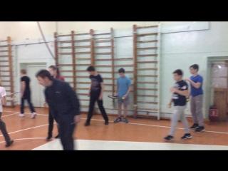 Тренировка по теннису в 1 школе (старшеклассники)
