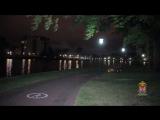В Калининграде 20-летний вандал сломал фонарный столб на Верхнем озере