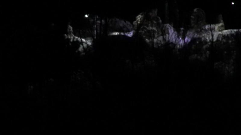 Хустський замок на рiздво 2017 рiк