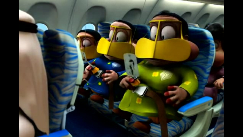 Fly Dubai safety video produced by FREEJ (English)