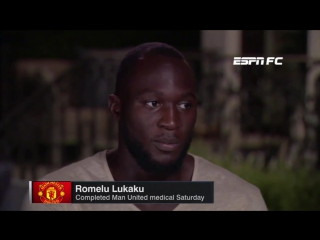 Lukaku's first interview as a Manchester United player | vk.com/eplfooty