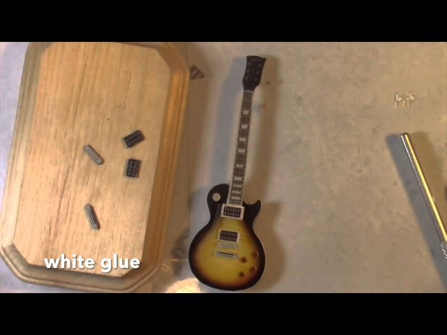 DIY- How to make a mini Slash's guitar tutorial- Cold Porcelain or Polymer Clay