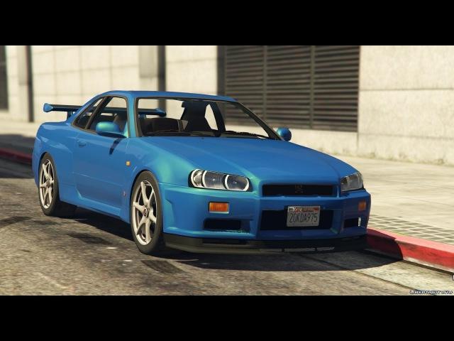Моды на GTA V: Nissan Skyline GT-R и Subaru Impreza WRX STI
