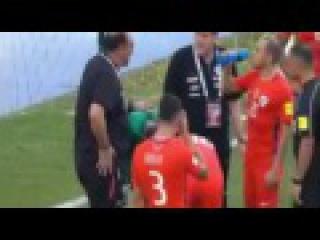 لحظة اصابة كلاوديو برافو ضد كولومبيا | The moment of injury Claudio B
