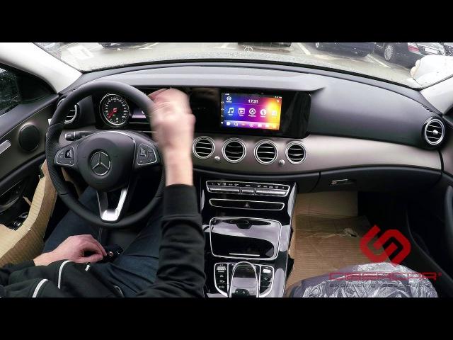 Mercedes E-klasse W213: андроид в оригинальной системе NTG 5.5