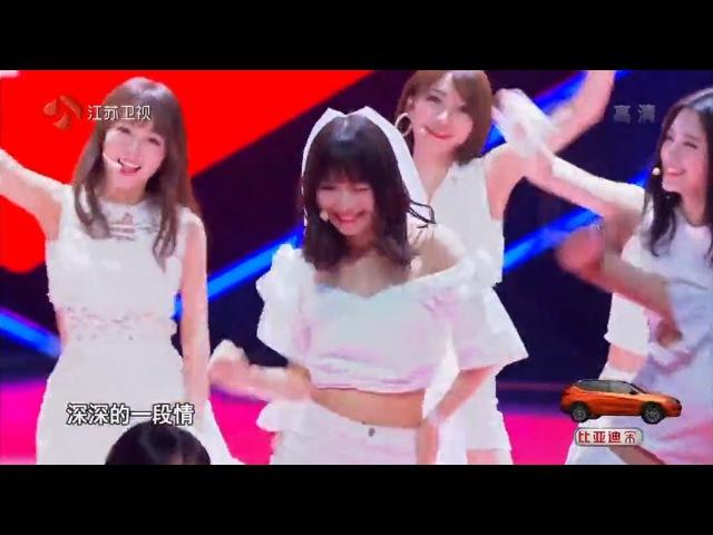 160619 SNH48 盖世英雄《月亮代表我的心》remix ver 张语格 鞠婧祎 万丽娜 赵粤 陆婷 刘炅