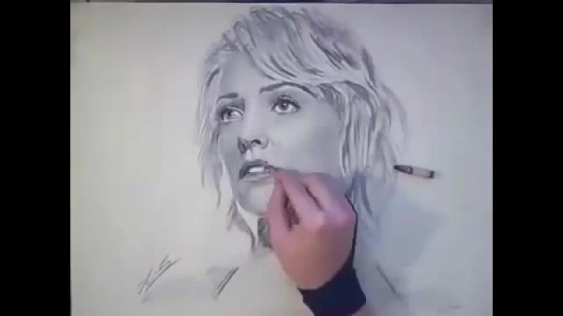 Красивый рисунок карандашом.