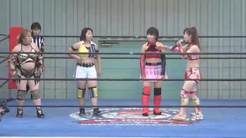 Hamuko Hoshi, Tsukasa Fujimoto vs. Ibuki Hoshi, Karen DATE (Ice Ribbon New Ice Ribbon 825 ~ Ueno Ribbon 4)