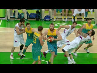 C1.3._2017Rules_UF_ C1 no legitimate attempt to play ball_ Elbowing (contact)_Rio2016_SRB-AUS