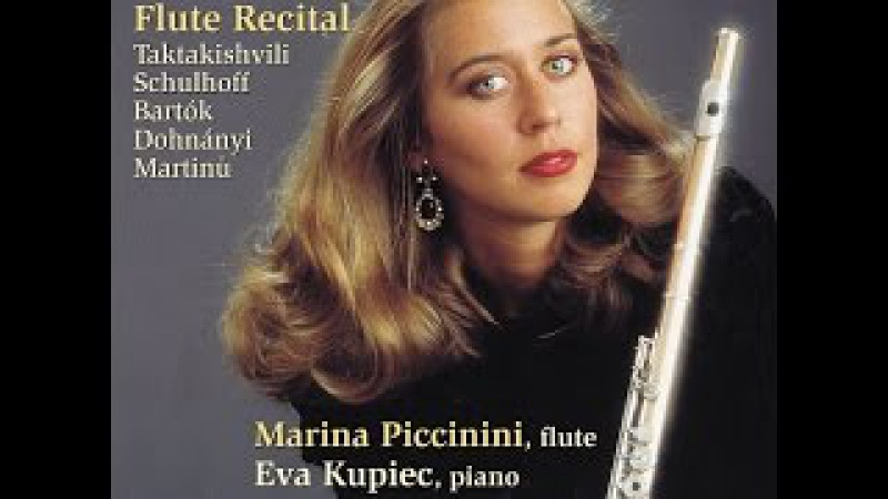 Marina Piccinini Otar Taktakishvili Sonata for Flute Piano in C Major