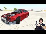 РАЗОРВАЛ ДРИФТ КОРЧ BEAMNG DRIVE + РУЛЬ LOGITECH DRIVING FORCE GT