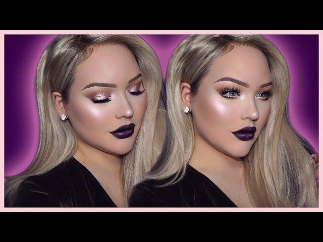 DARK VAMPY Flawless Holiday Makeup Tutorial