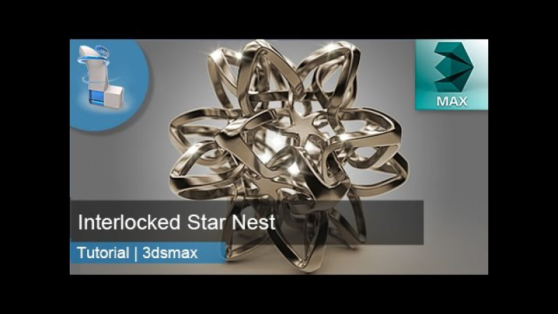 3d Tutorial | Interlocked Star Nest | 3dsMax