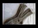 Вяжем спицами - носки на двух спицах без шва