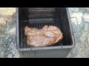 Свиная лопатка горячего копчения в самодельной коптильне. Готовим на природе.