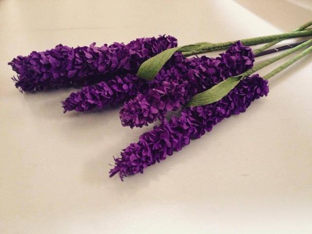 (D.I.Y)HOW TO MAKE LAVENDER PAPER FLOWER- Hướng dẫn làm hoa oải hương
