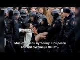 Девушка в белом пальто рассказывает о своём задержании на митинге в Москве 26.03.2017.