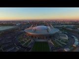 Аэросъёмка стадиона на Крестовском острове (Стадион Санкт-Петербург) 9 октября 2016 года