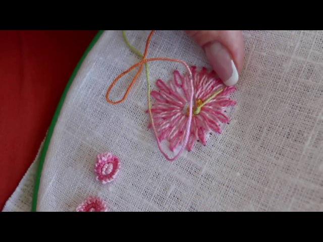Петля с прикрепом - цветок. Бразильская вышивка. Галина Перова