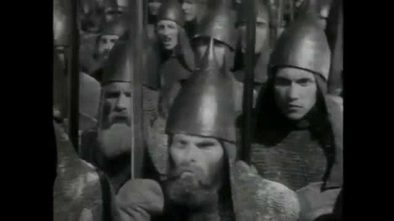 Ледовое побоище. Александр Невский, Андрей Ярославич и Андреас фон Вельвен.
