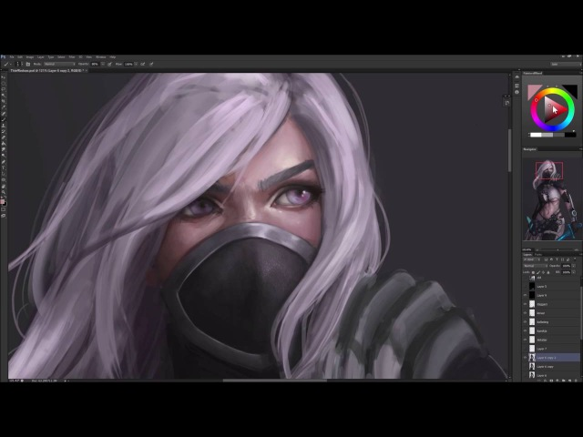 Astri Lohne — Thief - Guild wars 2 | Digital Painting Process