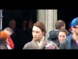 Filming of Brooklyn feat. Saoirse Ronan at the Cathedral Enniscorthy Ireland