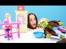 Игры в доктора. Частная КЛИНИКА Барби Лечим кукол и игрушки! Игры с Барби на Лай...