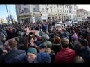 Как ОМОН режет толпу на Пушкинской Антикоррупционный митинг в Москве 26 03 2017